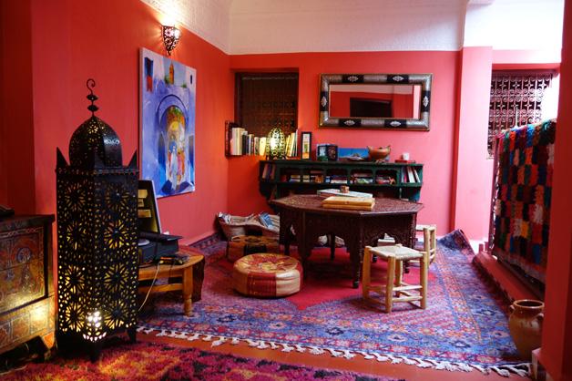 Salão - Dar Rita - Hotel Marrocos