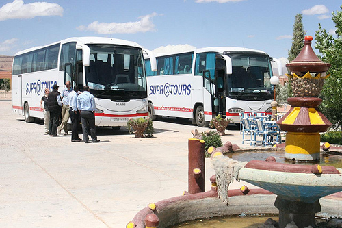 Photo of Supratours Buses in Boumalne Dades, half-way from Ouarzazate and Merzouga
