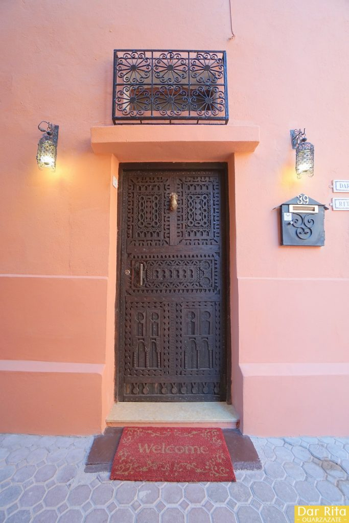 Entrance door of Dar Rita