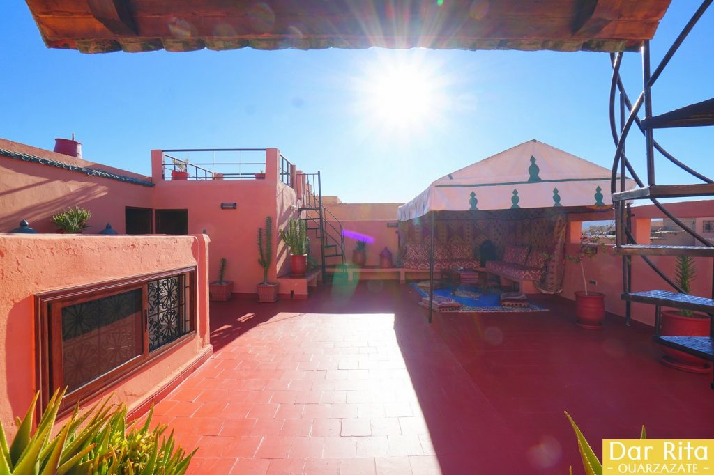 Terrace of Dar Rita - Hotel in Ouarzazate
