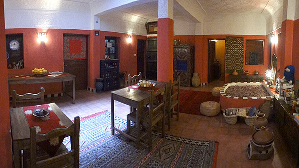 The ground floor of riad Dar Rita