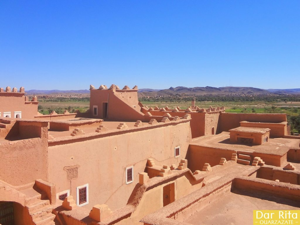 View of Ouarzazate river and traditional houses