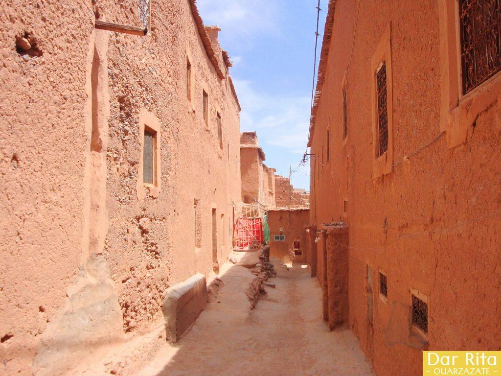 Photo of street in the old Medina of Tassoumaat in Ouarzazate