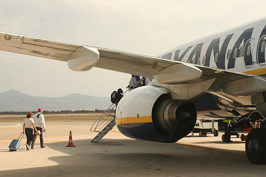 Photo of Ryanair airplane at Fez Airport, Morocco