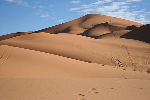Dunas de Erg Chebbi no sudeste de Marrocos