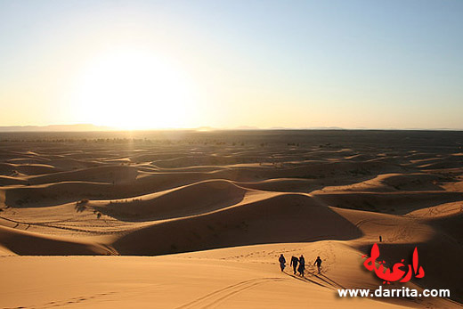 Sun set in Erg Chebbi Dunes