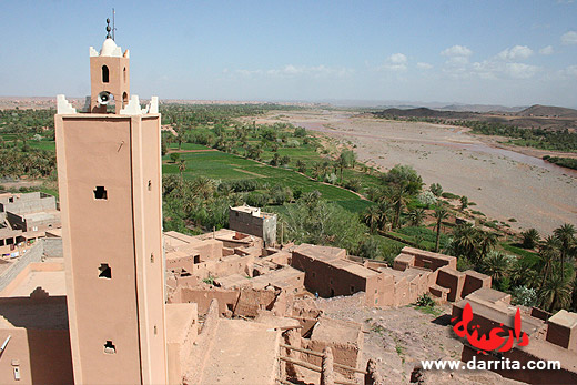 Photo of the view of Ouarzazate from Tifoultoute Kasbah
