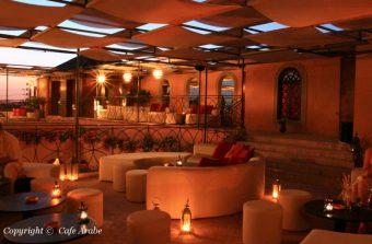 Restaurante Le Cafe Arabe em Marrakech, Marrocos