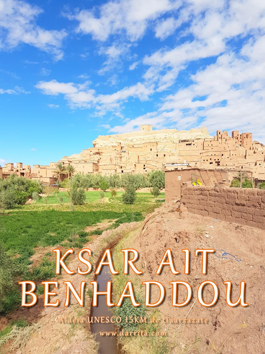 Ksar de Ait ben Haddou Aldeia UNESCO 15KM de Ouarzazate Marrocos