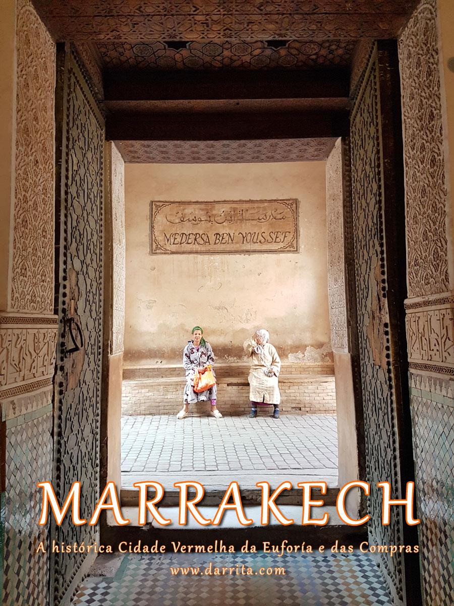 Entrada da Madraça Ben Youssef em Marrakech