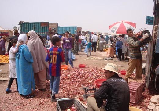 Ir às compras ao Mercado em Ouarzazate Marrocos
