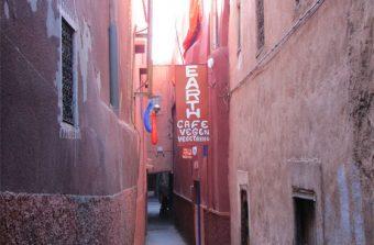 Earth Café, Restaurante Natural e Vegetariano em Marrakech