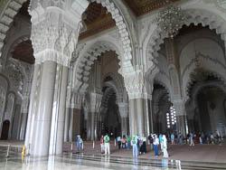Interior da Mesquita Hassan II, Casablanca