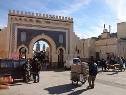 Porta na Medina de Fes