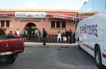 Estação de autocarros da Supratours em Marraquexe, Marrocos