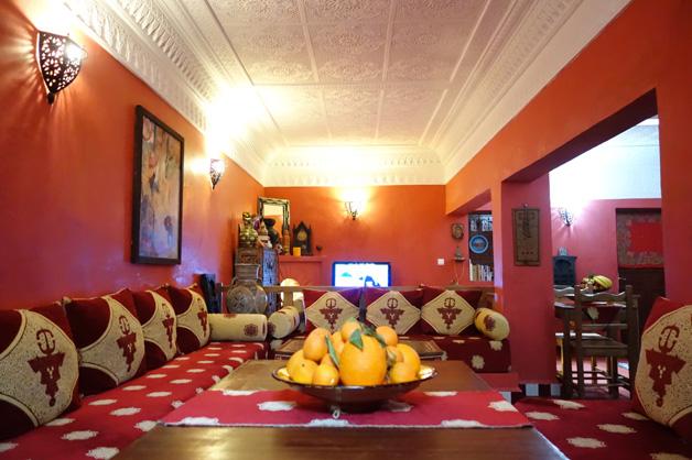 Sala jantar - Dar Rita - Hotel Marrocos