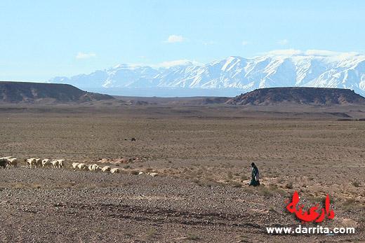 Foto das Montanhas do Atlas em Ouarzazate