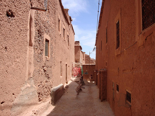 Photo of street in the old Medina of Tassoumaat in Ouarzazate