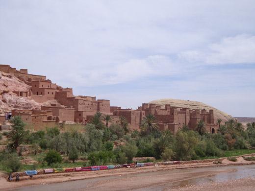 Ksar de Ait Benhaddou um local Património Mundial da Humanidade da UNESCO em Ouarzazate