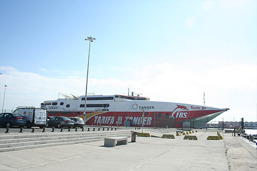 Photo of the ferry-boat from Spain to Morocco in Tarifa port