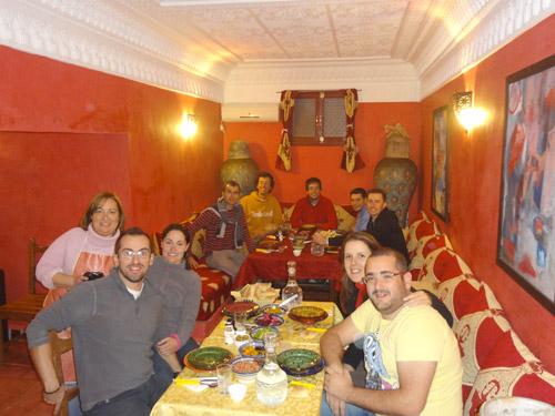 Grupo de jipes de Portugal no Dar Rita