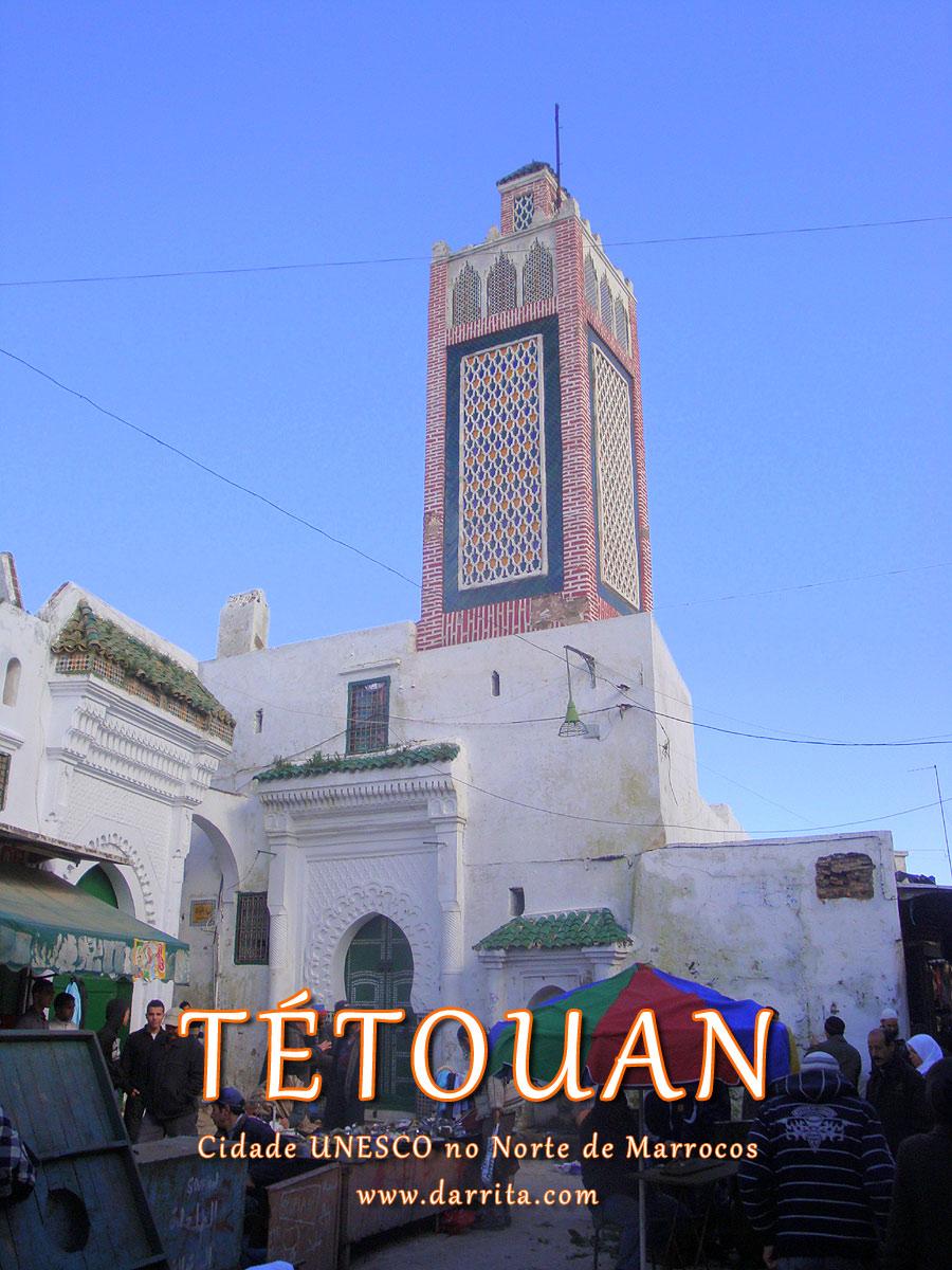 Medina de Tetuão em Marrocos