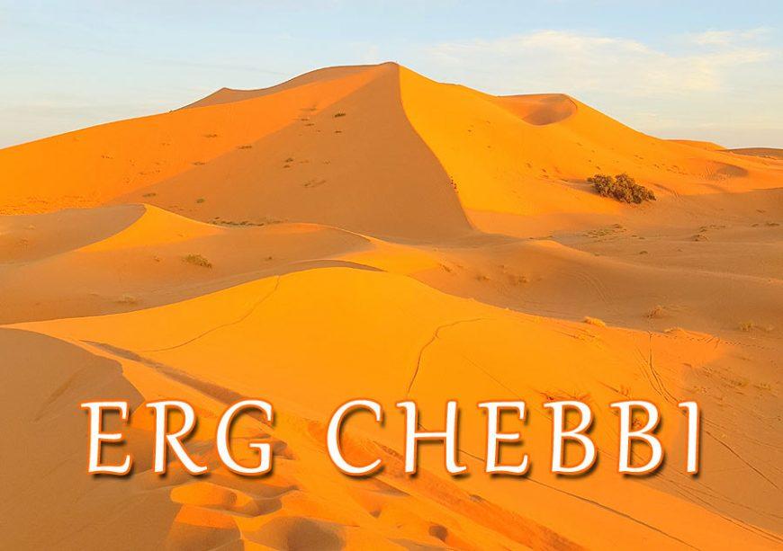 Dunas de Erg Chebbi, Deserto do Saara em Marrocos