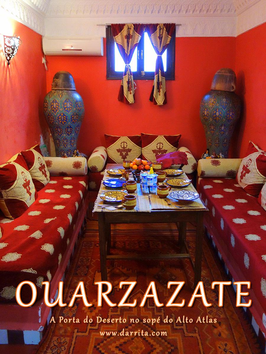 Salão marroquino do Dar Rita
