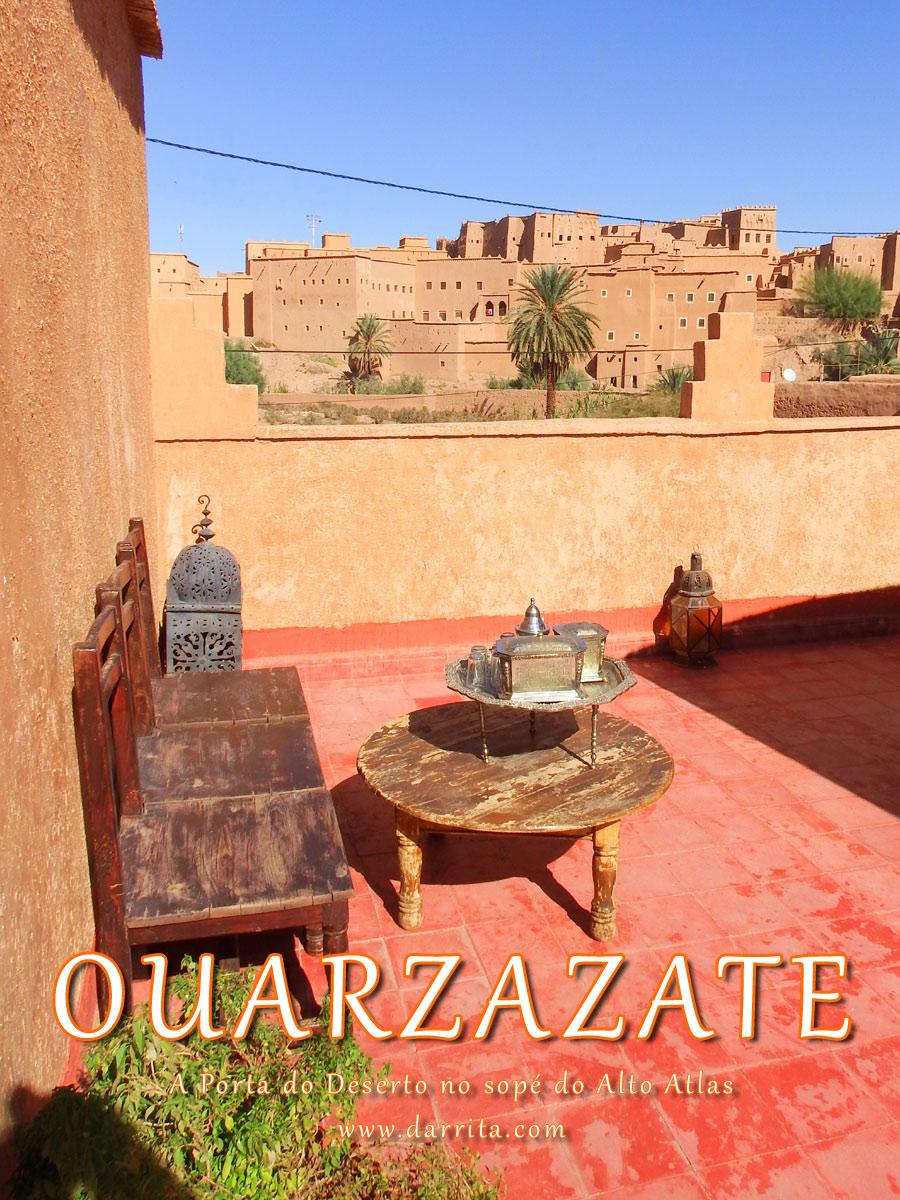Vista do Casbá de Taourirt em Ouarzazate