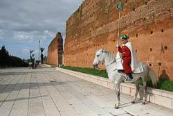 Guarda a cavalo em Rabat
